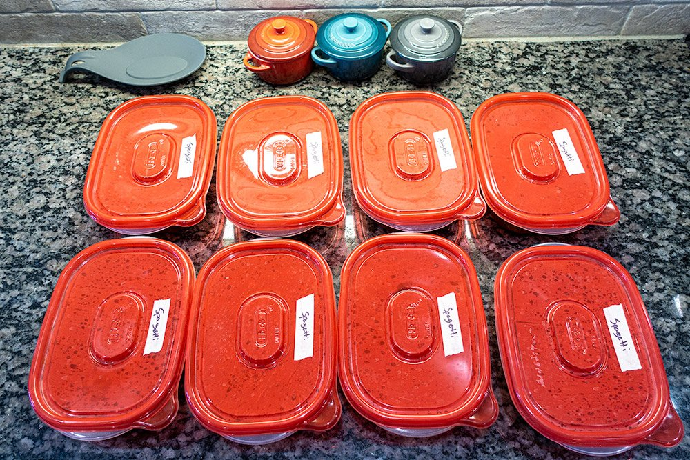 spaghetti sauce freezer packs