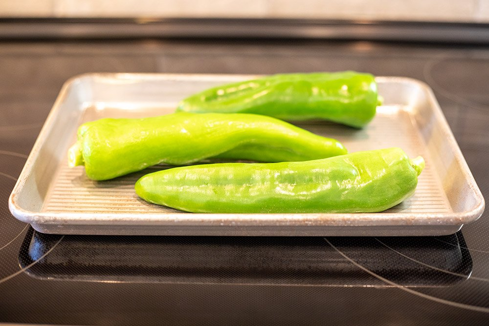 Fresh green chiles.