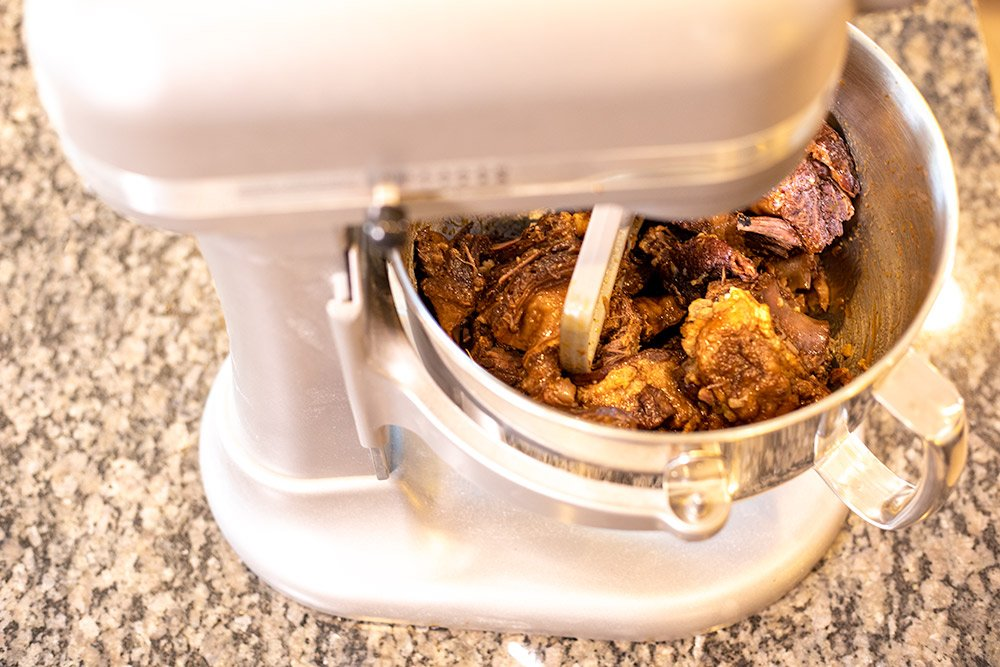 Pulling taco meat in a stand mixer