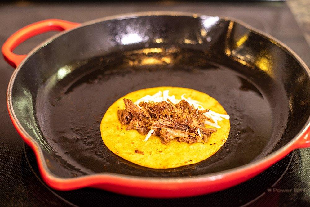 fring birria tacos