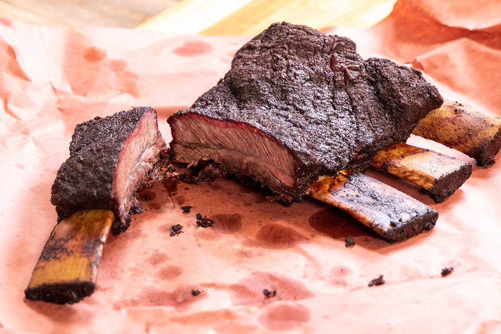 Slow Smoked Coffee-Ancho Rubbed Beef Ribs