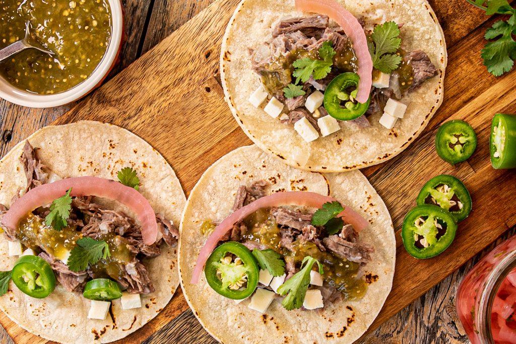carne deshebrada para tacos
