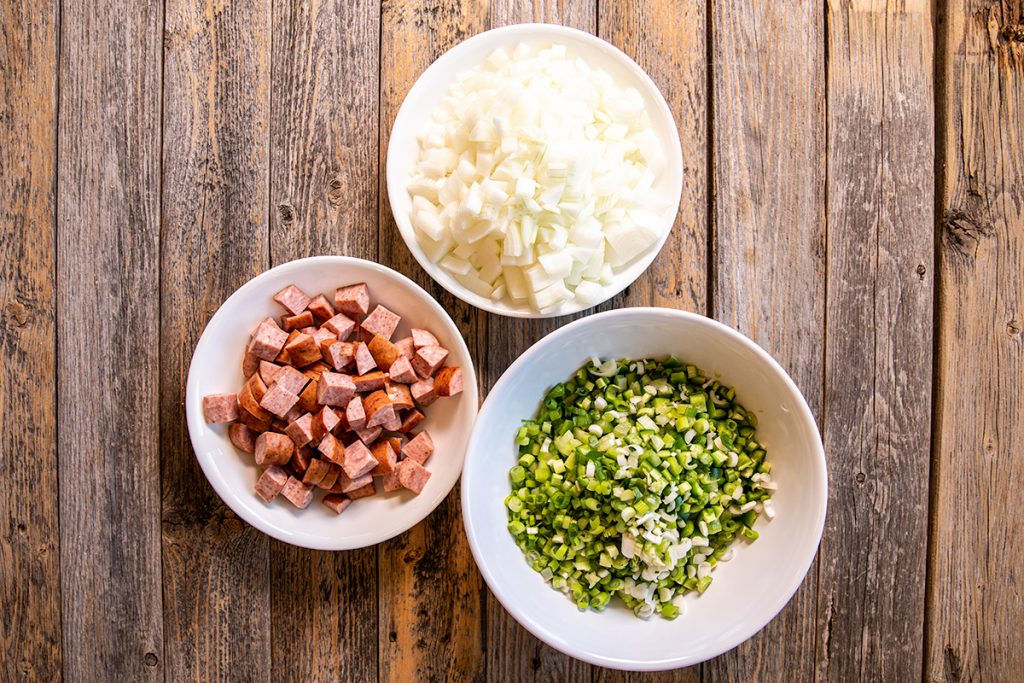 Chopping your ingredients to the right size will make your meal easier to eat and tastier.