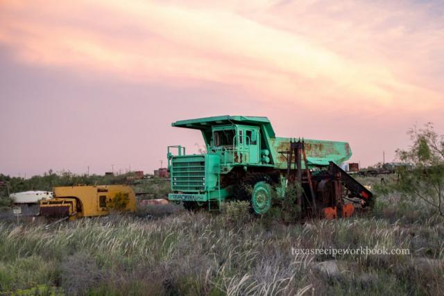Old Green Dump Truck
