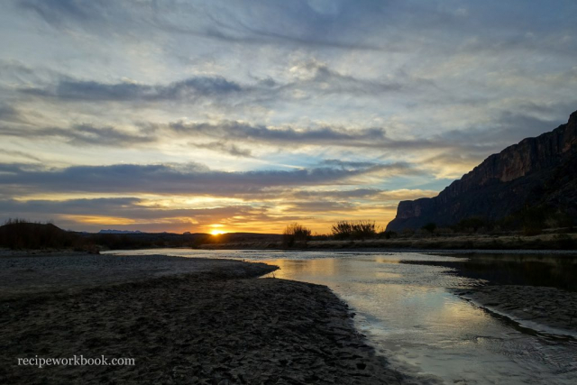 Sunrise from the Rio Grande