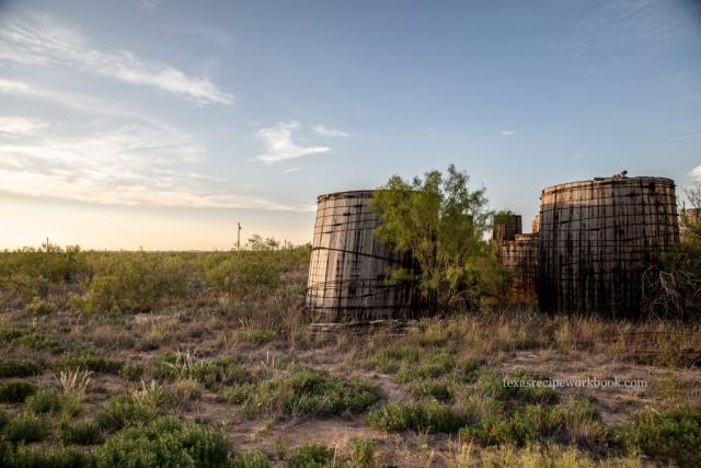 Old Wooden Oil Tanks